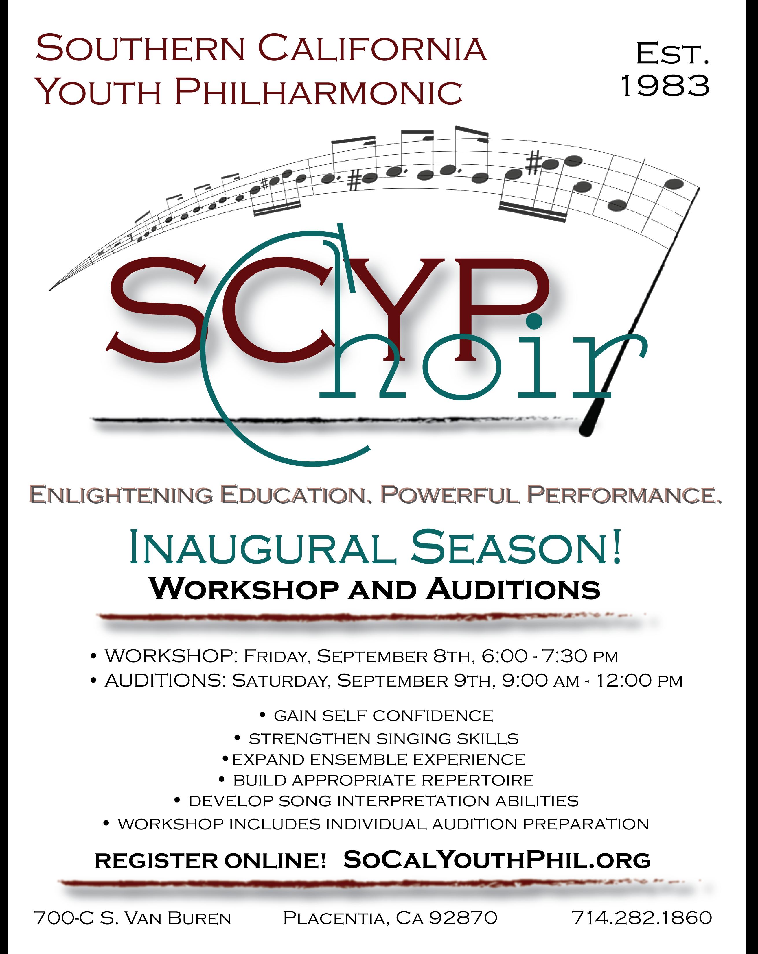 Choir Workshop Flyer 2017-2018